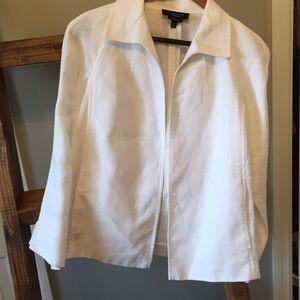 Talbots White Linen Jacket